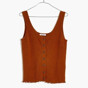 Madewell button down sweater tank